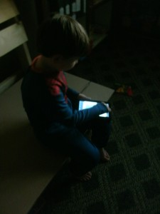 """Spiderman"" using the app"