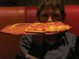 My son & his pizza