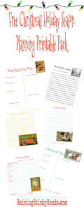 Free Christmas Holiday Season Planning Printable Pack