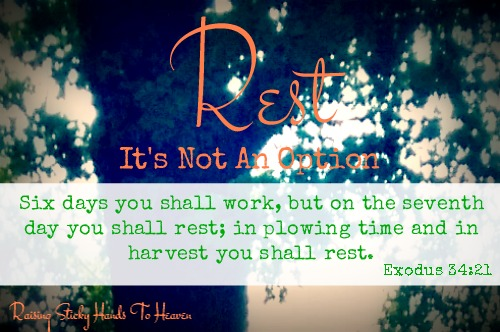 Rest - It's Not An Option - <a href=