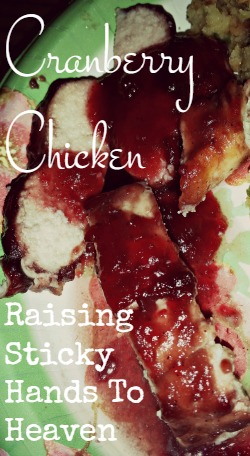 Cranberry Chicken - Raising Sticky Hands To Heaven