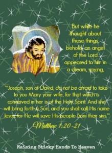 Matthew 1:20-21 -- Raising Sticky Hands To Heaven